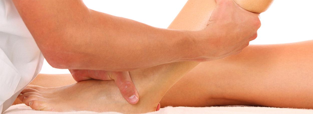detaliu din masaj sportiv